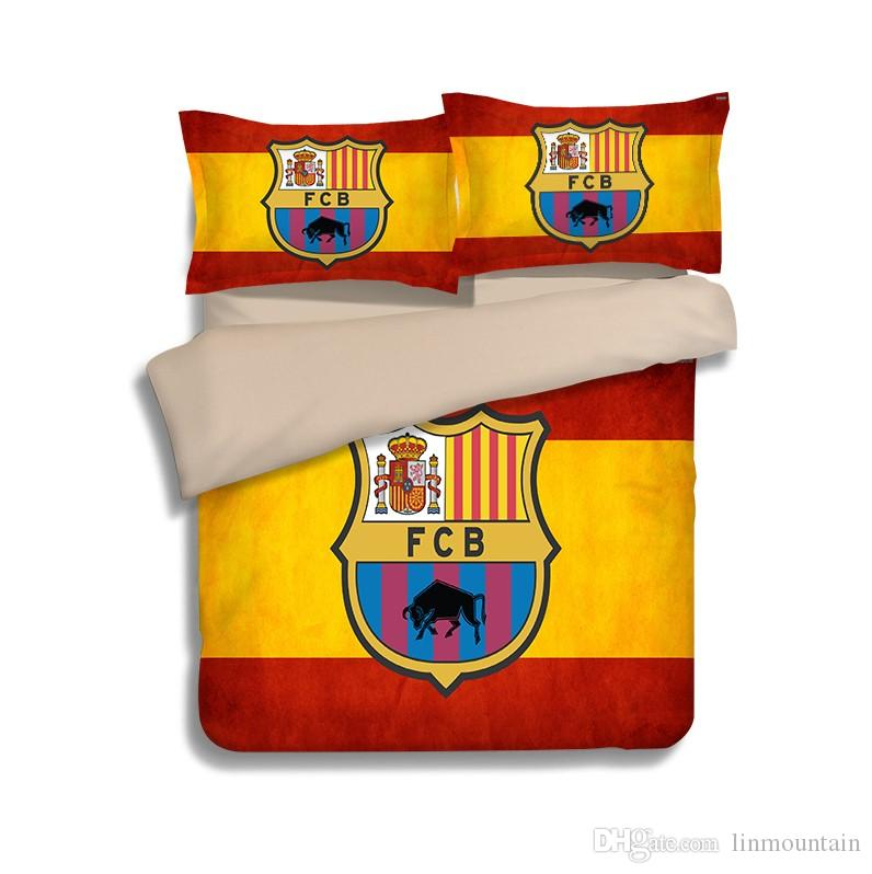 3d bedding set barca FC