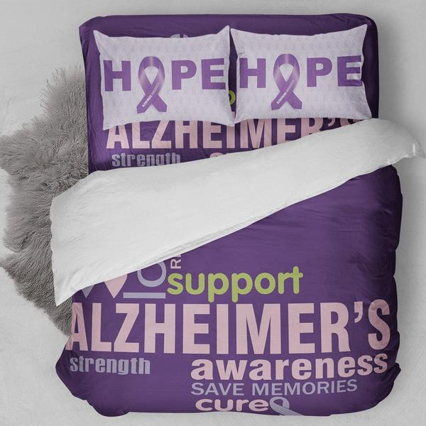 ALZHEIMER'S AWARENESS BEDDING SET