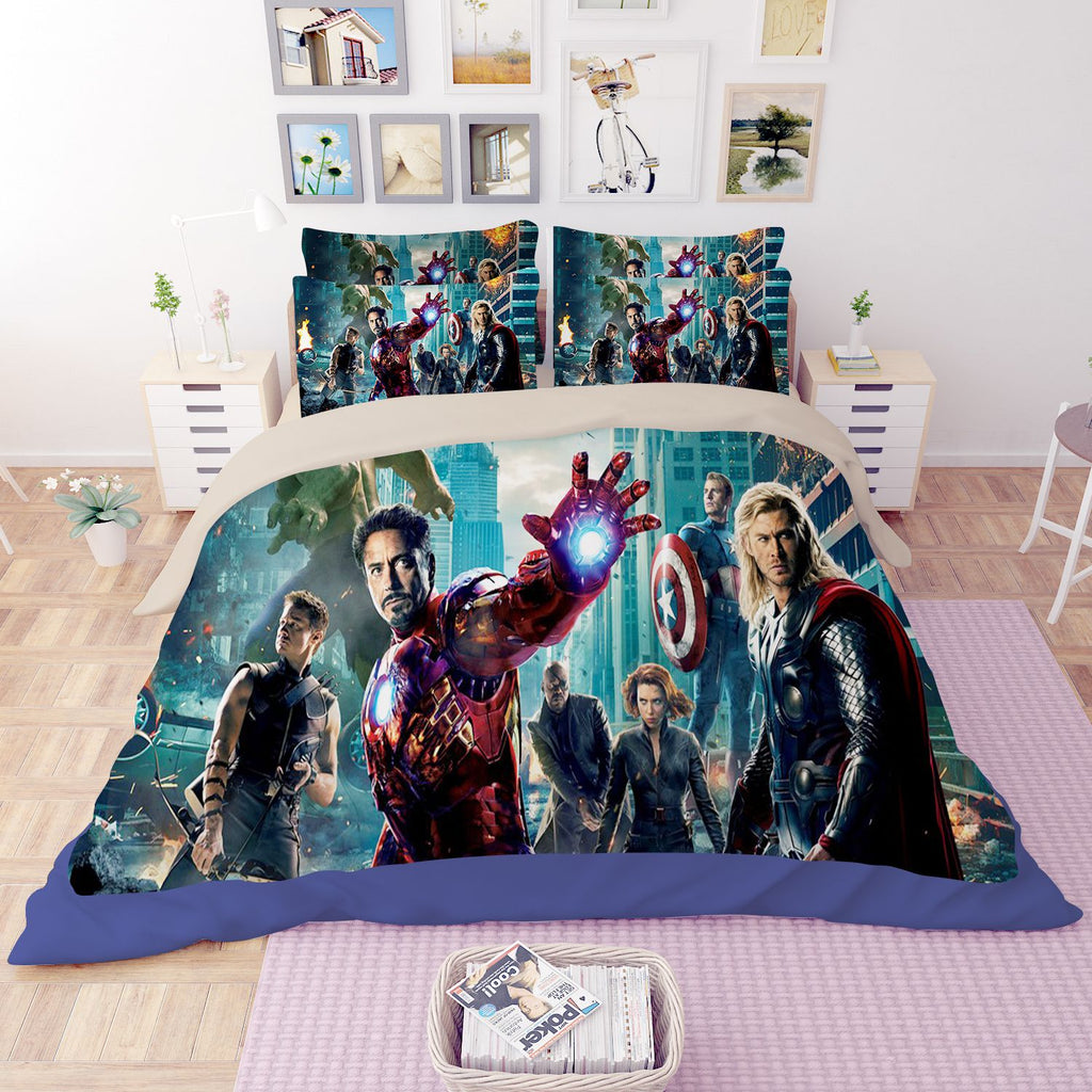 Avengers Assemble Print Bedding Set