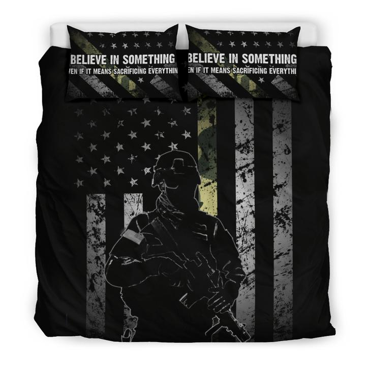BELIEVE IN SOMETHING - Thin Camo Line Bedding Set