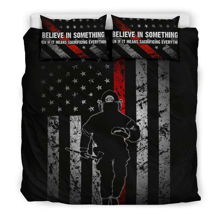 BELIEVE IN SOMETHING - Thin Red Line Bedding Set