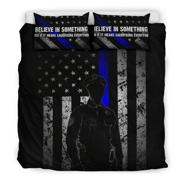 BELIEVE IN SOMETHING - Thin blue Line Bedding Set