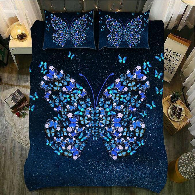 BLUE MORPHO BUTTERFLY BEDDING SET