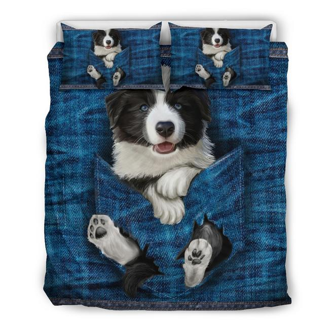 BORDER COLLIE POCKET BEDDING SET