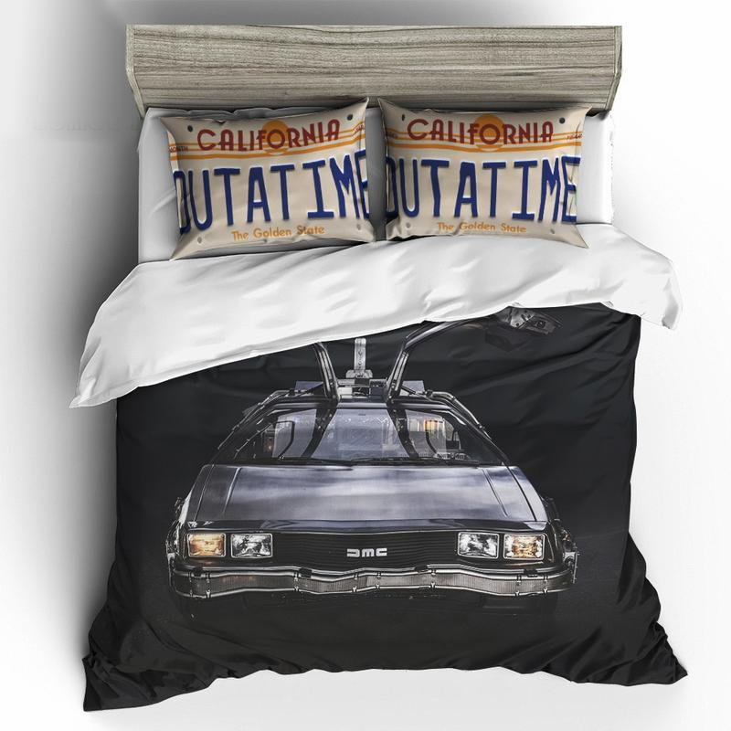 BTF BEDDING SET BACK TO THE FUTURE - DE LOREAN