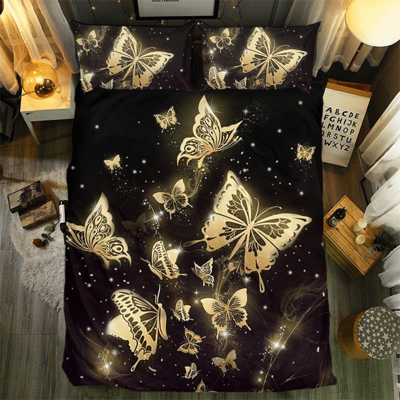 BUTTERFLY COLLECTION  BEDDING SET.