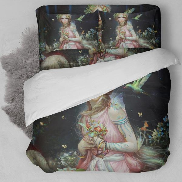 Beautiful Fairy Artwork Bedding Set