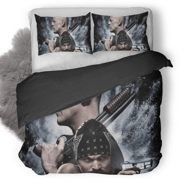 Bruce Willis And Jason Momoa In Once Upon A Time In Venice Bedding set