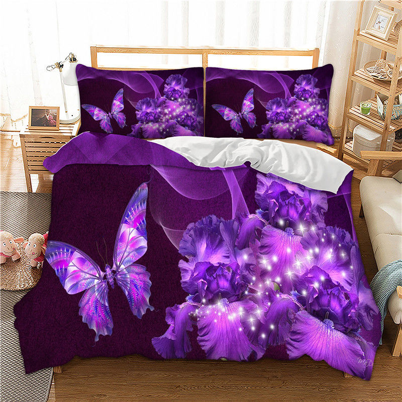 Butterfly Bedding Set Duvet Cover Set With Pillow case