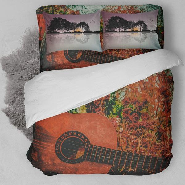 Classic Guitar Painting Bedding Set