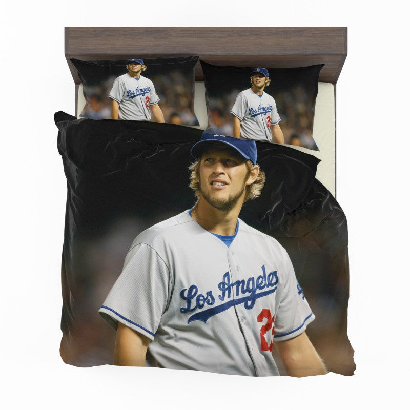 Clayton Kershaw Baseball Pitcher Los Angeles Dodgers Bedding Set