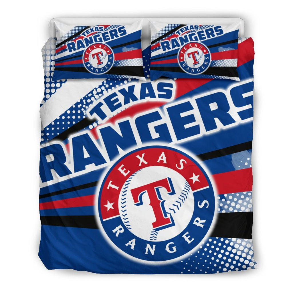 Colorful Shine Amazing Texas Rangers 3D Customized Bedding Set