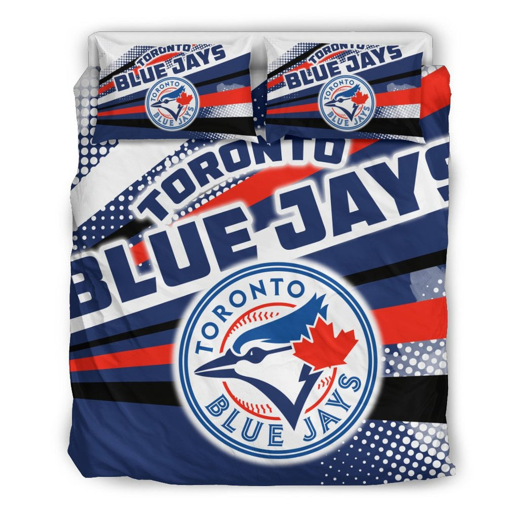 Colorful Shine Amazing Toronto Blue Jays 3D Customized Bedding Set