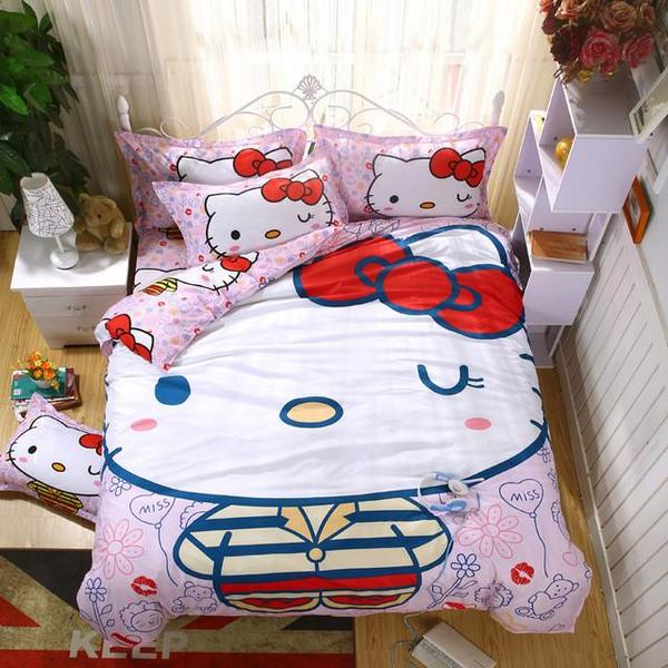 Cotton Cartoon Printing Bedding Set C