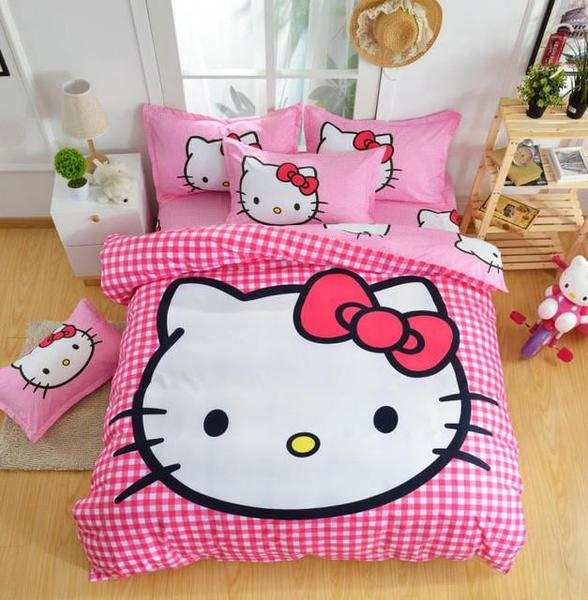 Cotton Cartoon Printing Bedding Set D