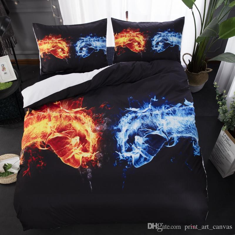 Cotton Pattern Water and Fire Boxing Vs Gift Elegant and Comfortable Design Bedding Set