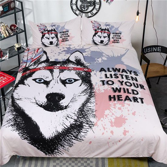 Cover Rukt Hund Sibirischer Husky bedding set