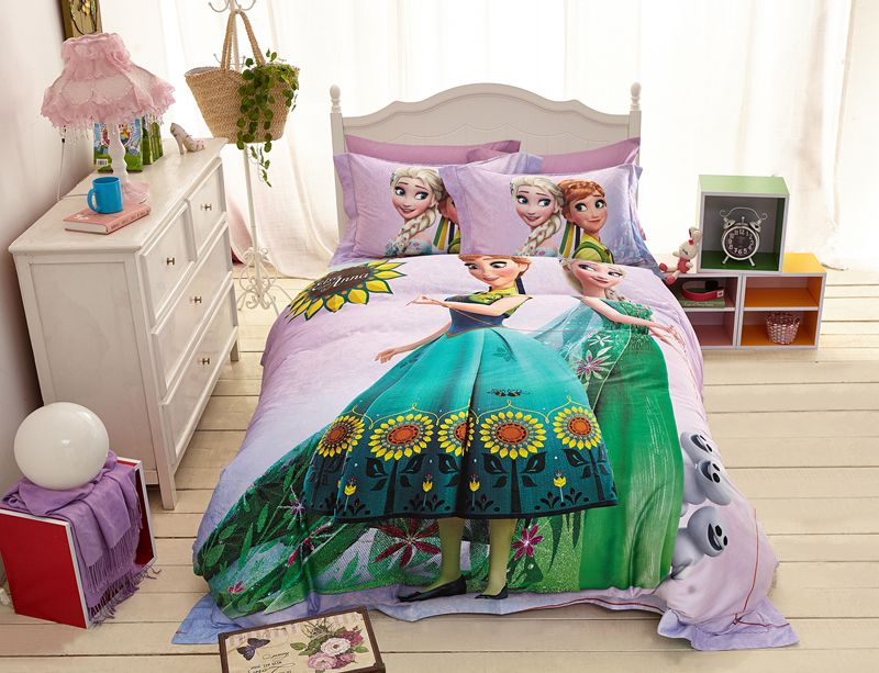 Disney Elsa and Anna Birthday Gift for Girls Bedding Set
