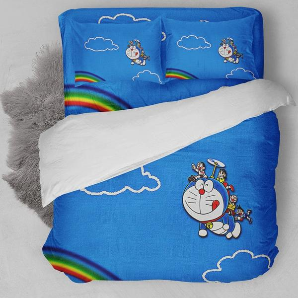 Doraemon And Friends Bedding Set