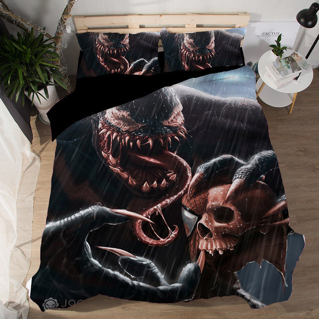Duvet Cover Sheet 3D Star Wars terror Venom Film Bedding Sets 2