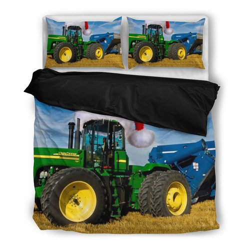 Farmer Tractor Xmas 3D Bedding set