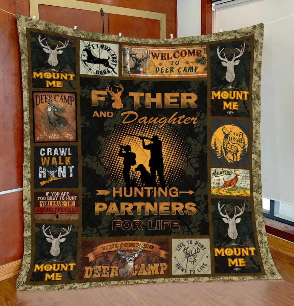 Father Daughter Hunting Partners Quilts