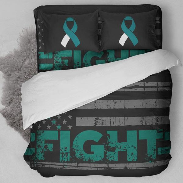 Fight Cervial Cancer Bedding Set