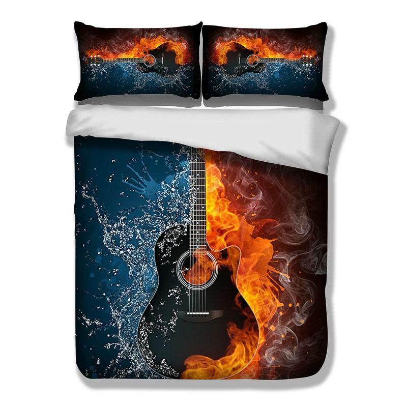 Guitar Music HD Bedding Set
