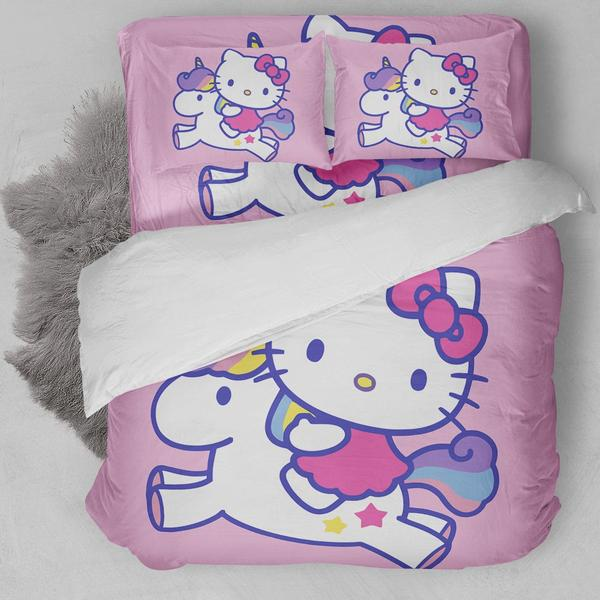 Hello Kitty Unicorn Bedding Set