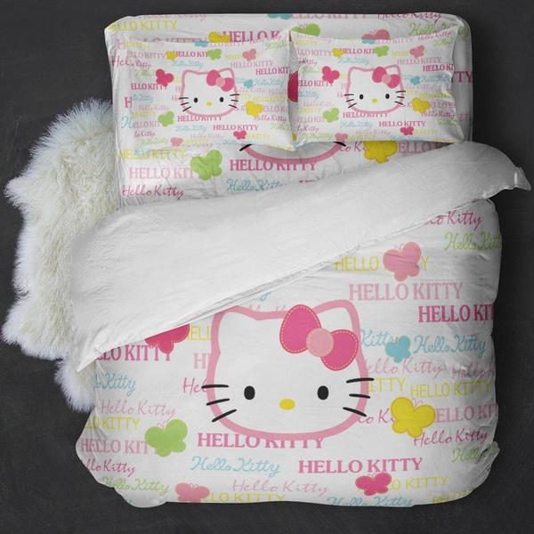 Hello Kitty White Bedding Set