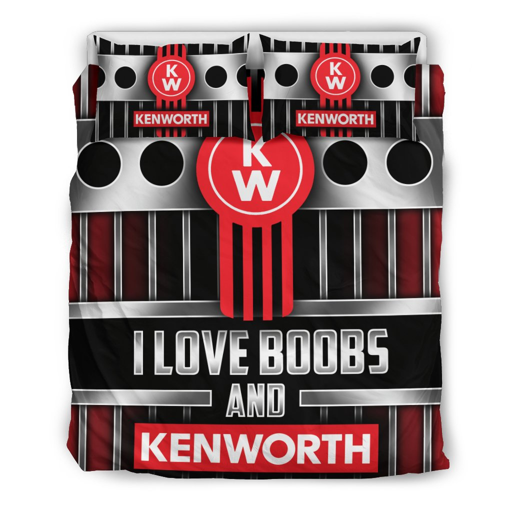 I LOVE BOOBS AND KENWORTH BEDDING SET