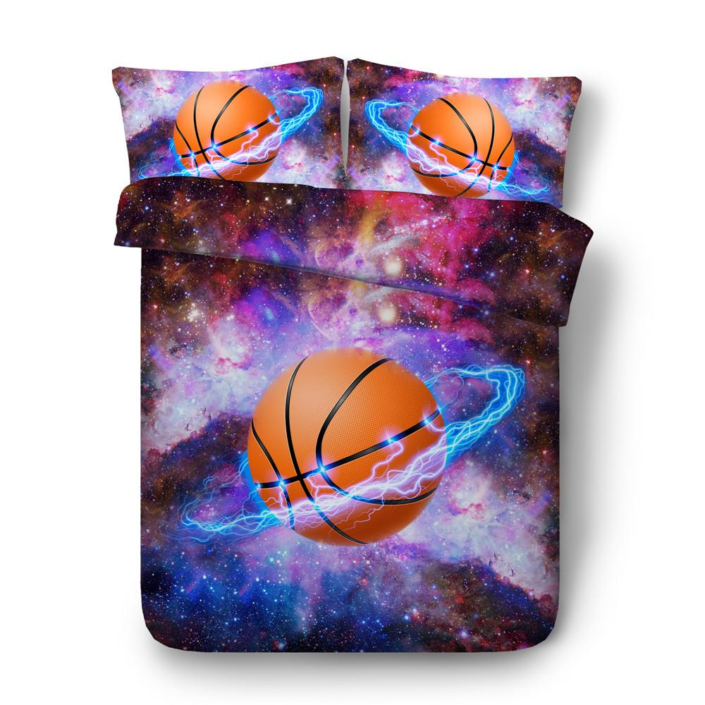 Cool Basketball And Galaxy Bed Set  bedding set