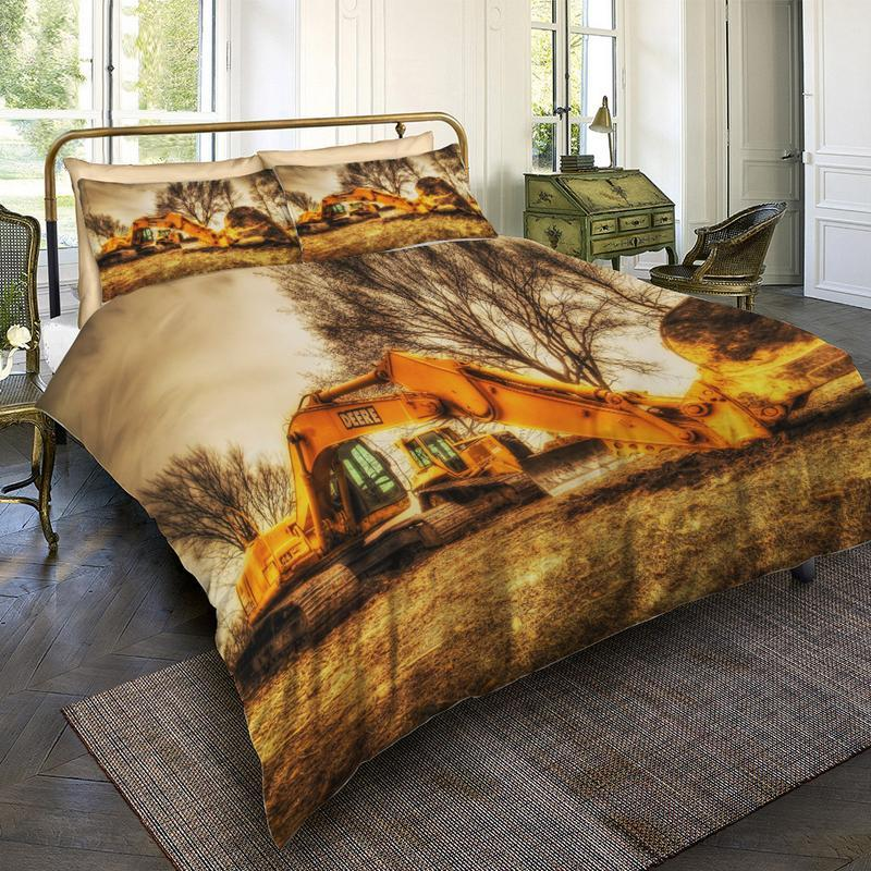 JOHNDEERE BEDDING SET JOHN DEERE BACKHOE