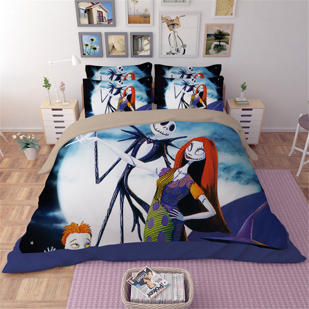 Jack Skellington And Sally Bedding Set5