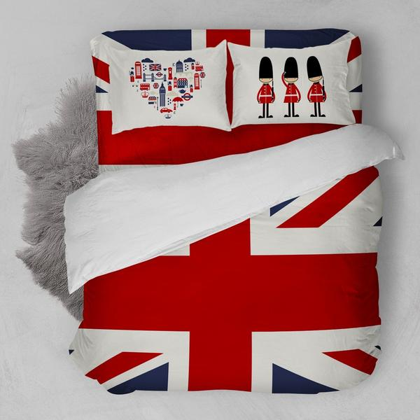 LONDON HEART FLAT BEDDING SET