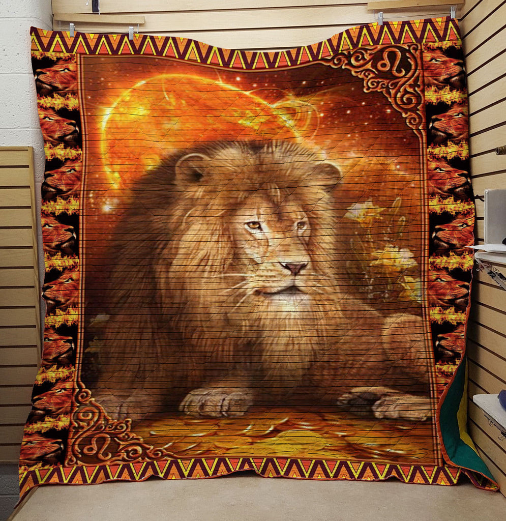 Lion 3D Personalized Customized Quilts 1