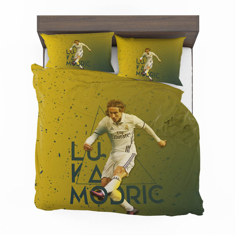 Luka Modric Read Madrid Croatia Footballer Bedding Set