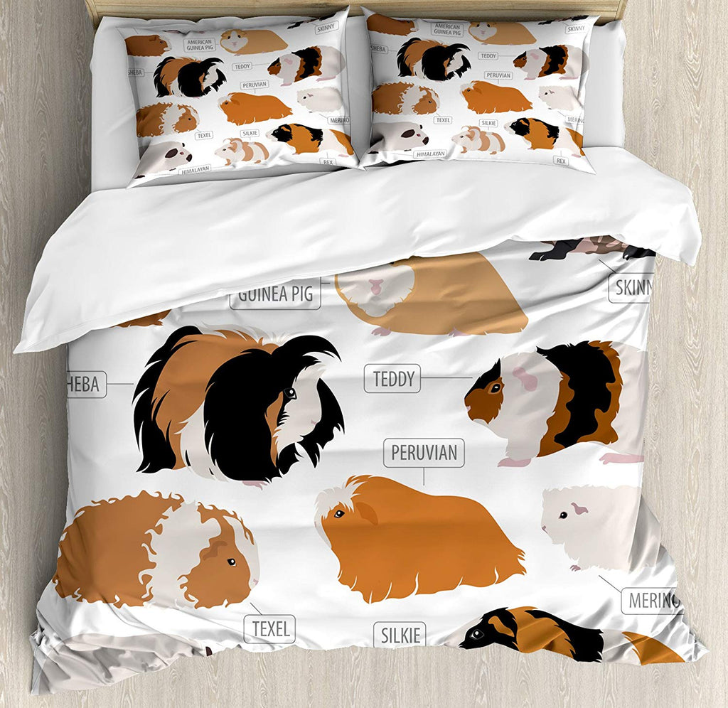 Infographic Design Classification for Types of Rodent Breeds Bedding Set