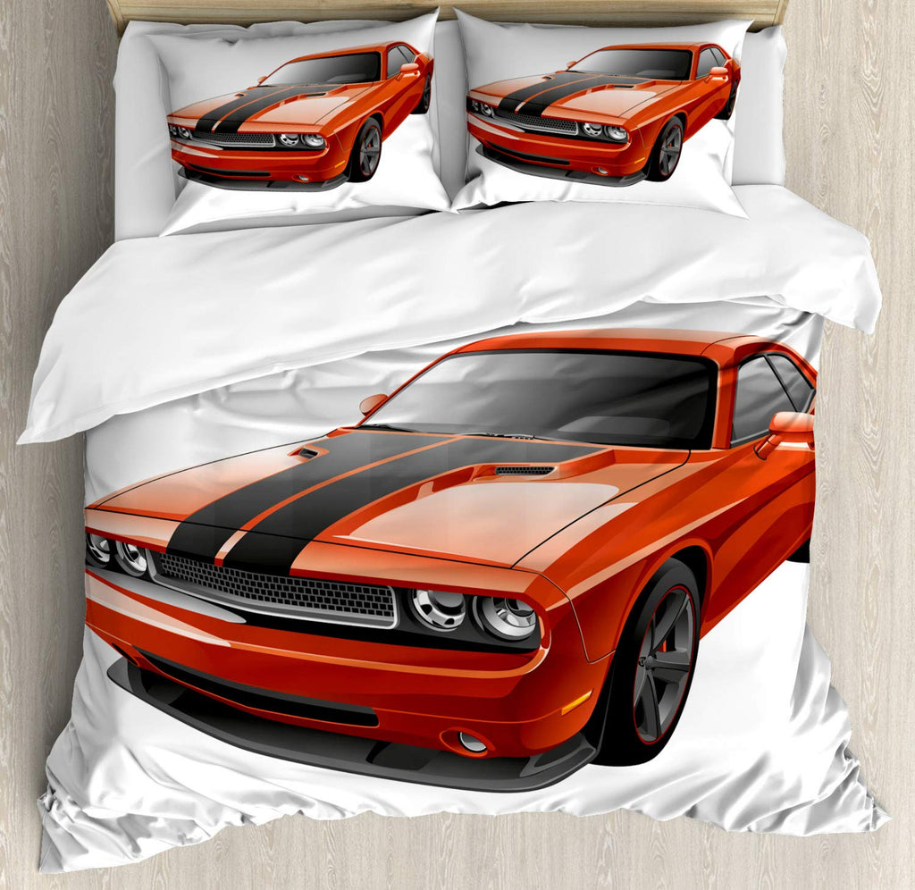Modern Muscle Car Exotic Sports Hobby Activity Leisure Concept Design,Bedding Set
