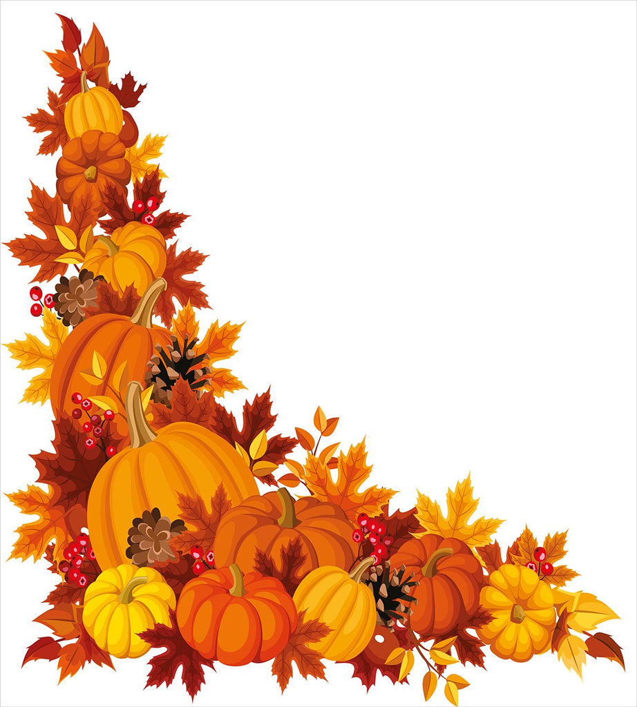 Autumn Leaves and Fruits on Fall Season Arrangement Pine Cone Cranberries,Bedding Set