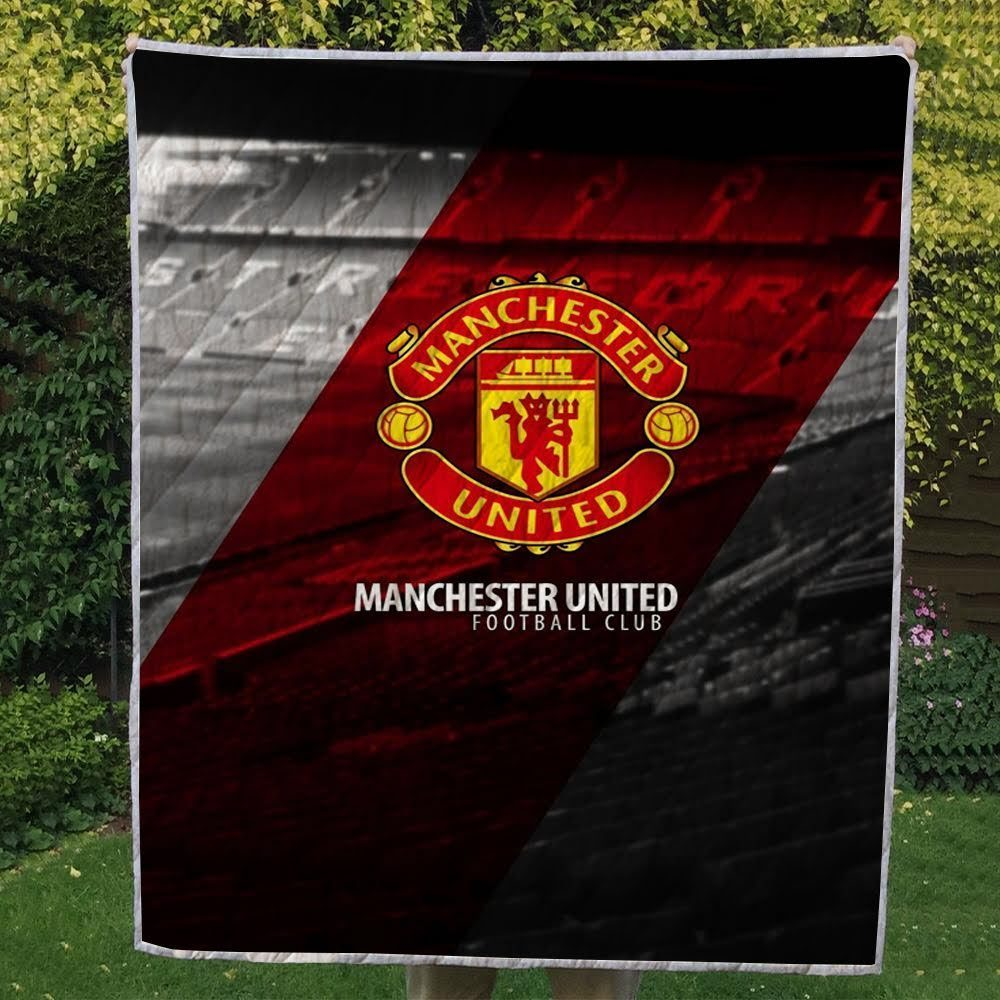 Manchester United Red And Grey 3D Quilts