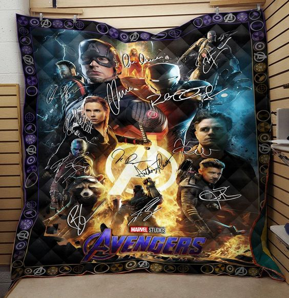 Marvel Avengers Endgame Heroes Signatures Quilts