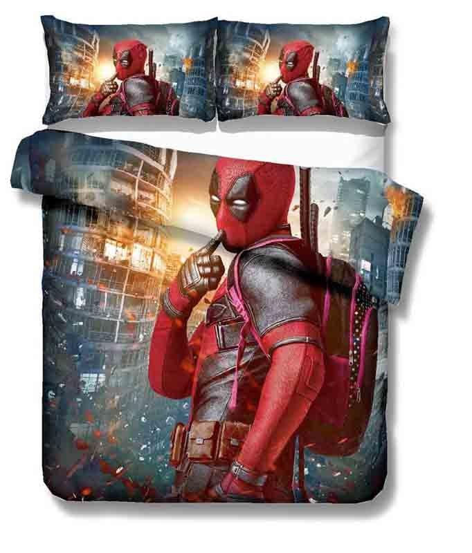 Marvel Deadpool 3D printing bedding set