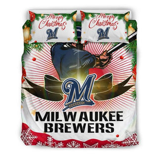 Merry Christmas Milwaukee Brewers Bedding Set