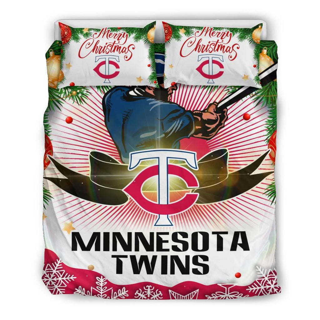 Merry Christmas Minnesota Twins Bedding Set