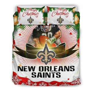 Merry Christmas New Orleans Saints Bedding Set