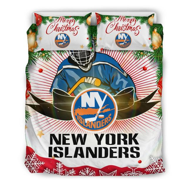 Merry Christmas New York Islanders Bedding Set