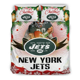Merry Christmas New York Jets Bedding Set