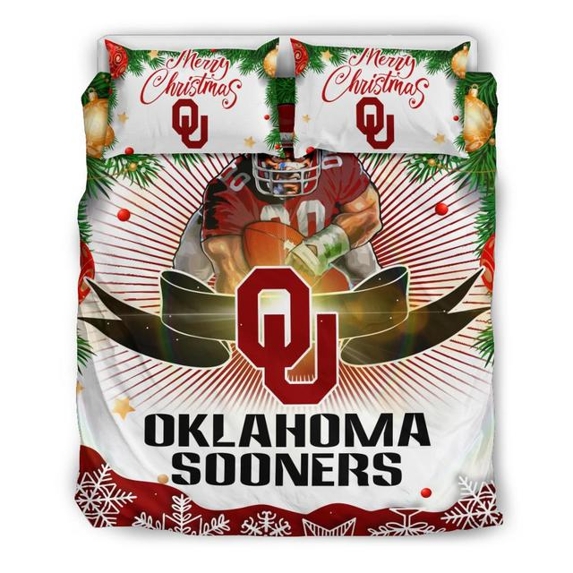 Merry Christmas Oklahoma Sooners Bedding Set