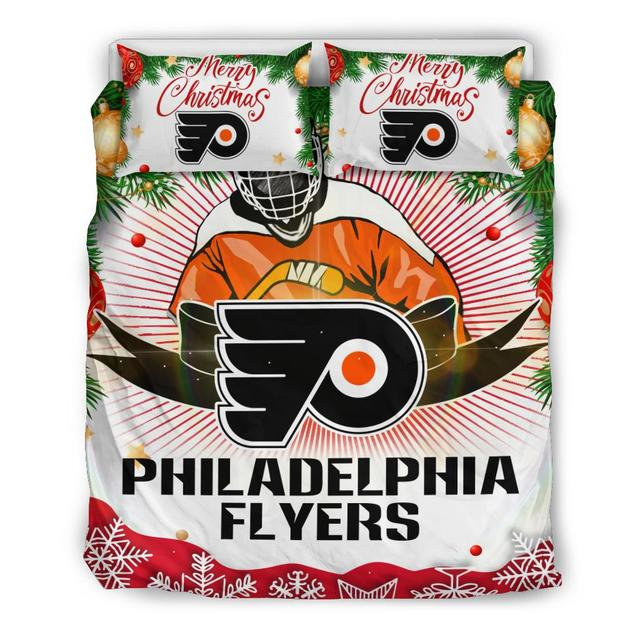 Merry Christmas Philadelphia Flyers Bedding Set